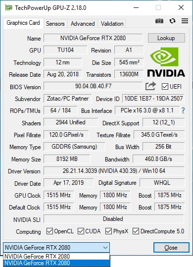 Nvidia GeForce RTX 2080 NVLink Performance And Analysis - FunkyKit
