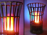 Bamboo Vase Silk Flame Simulated Fire Effect Flaming Torch ...