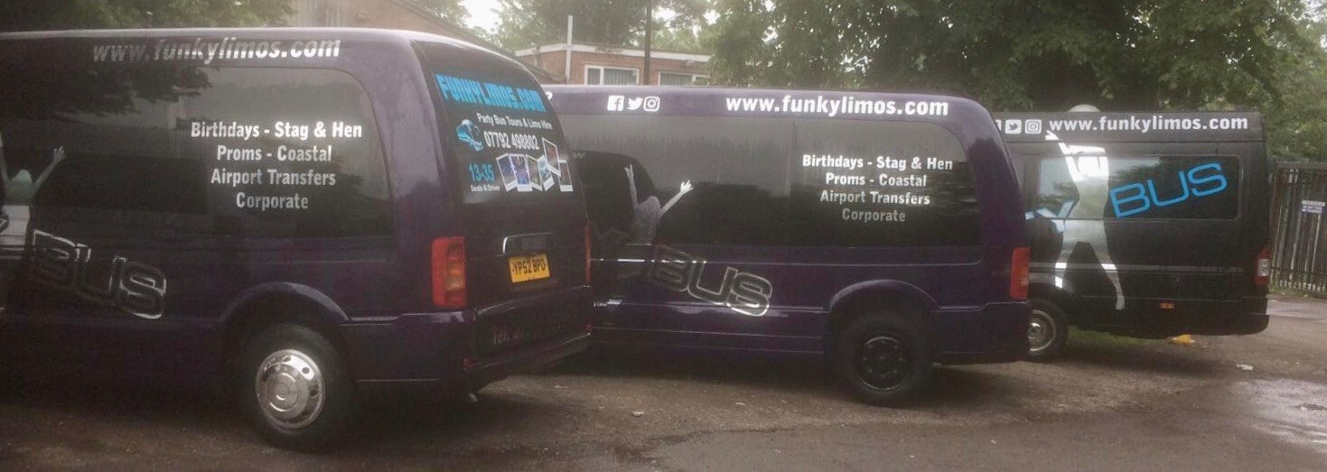 16 Seater Party Bus Hire - Funkylimos