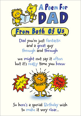 From Both Of Us Dad Birthday Card Funky Pigeon