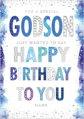 Special Godson Birthday Card Funky Pigeon