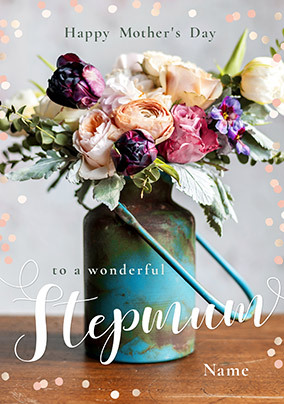 wallpapers Happy Step Mothers Day Images step mum mother s day floral personalised card