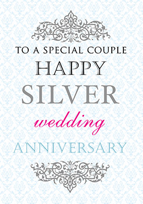 25th silver wedding anniversary