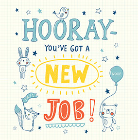 new job congratulations cards