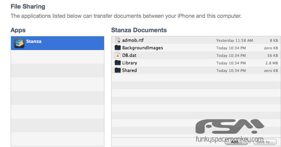 how to allow itunes file sharing
