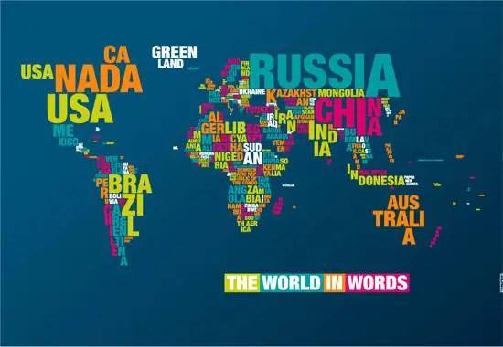 TypoMaps The World In Words IPhoneiPad Wallpaper - World map ipad wallpaper