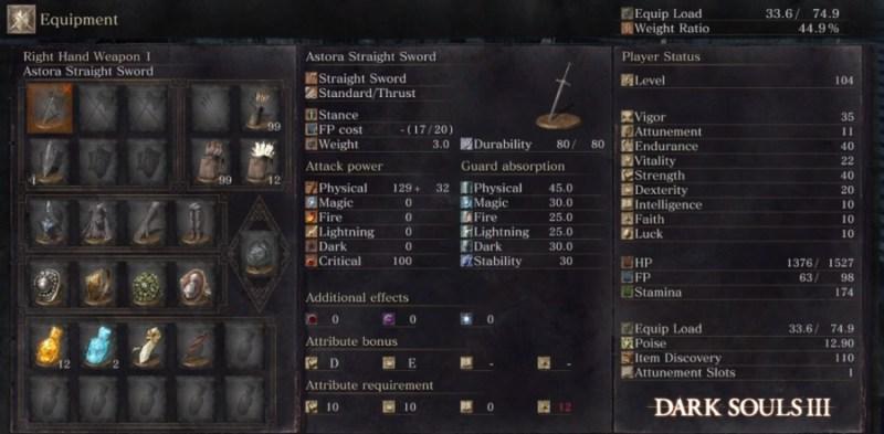 Dark Souls 3 Astora Straight Sword