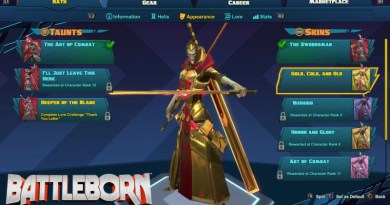 Battleborn Unlock Golden Skins with Shift Codes