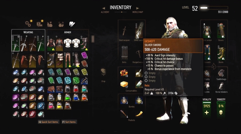 The Witcher 3 Blood and Wine Gesheft Sword
