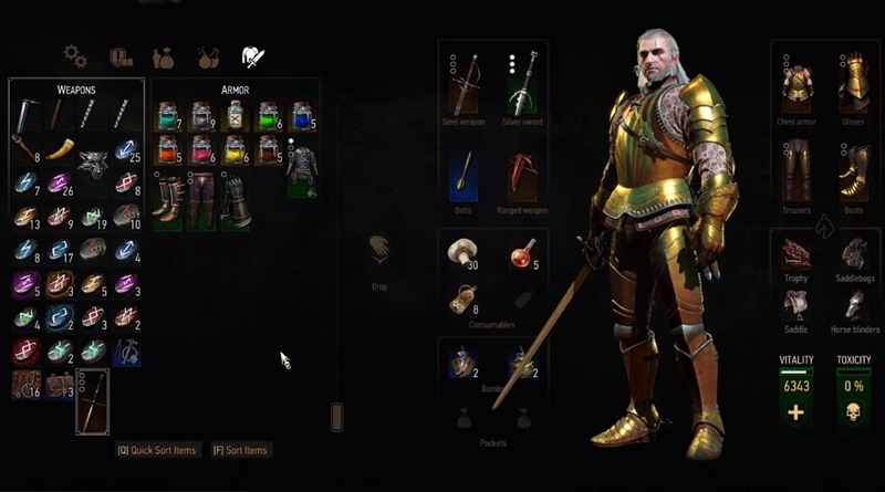 The Witcher 3 Blood and Wine Vitis Relic Sword
