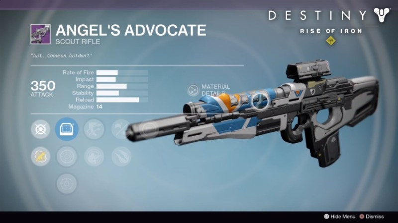 Best Vendor Weapons in Destiny Rise of Iron - Angel's Advocate