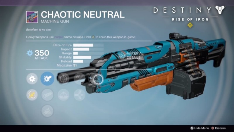 Best Vendor Weapons in Destiny Rise of Iron - Chaotic Neutral