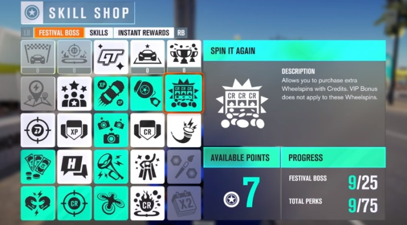 Froza Horizon 3 Review - Skill Tree