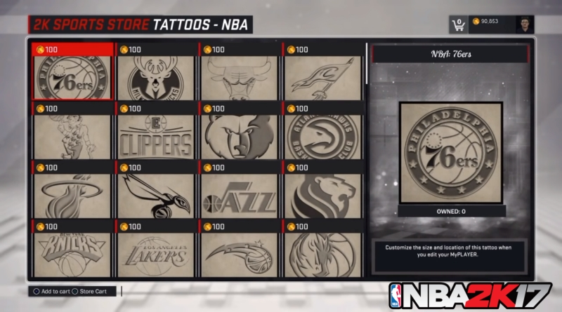 How to Equip Accessories and Tattoos in NBA 2K17