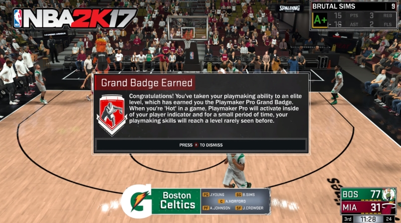How to Unlock PlayMaker Pro Grand Badge in NBA 2K17