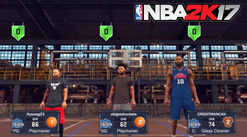 NBA 2K17 Playing MyPark with Friends