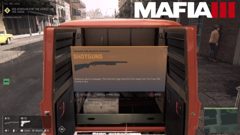 How to Customize Weapons in Mafia 3 - Shotguns