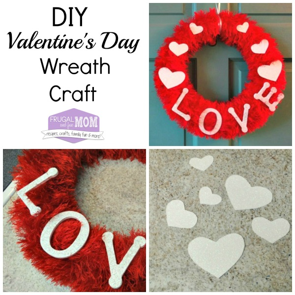DIY Valentines Day Wreath Craft With Fun Fur And LOVE