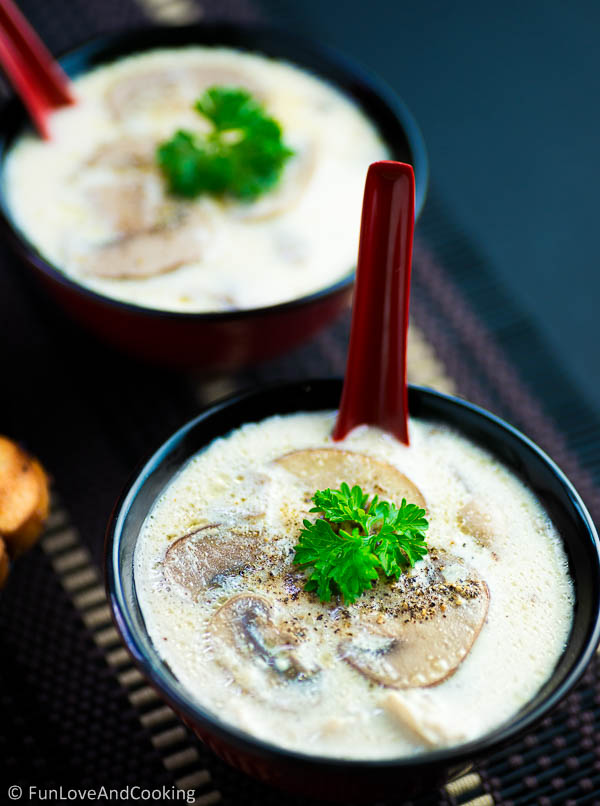 Mushroom Soup with chicken recipe funloveandcooking
