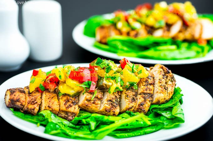 Baked Chicken Breast With Pineapple Salsa