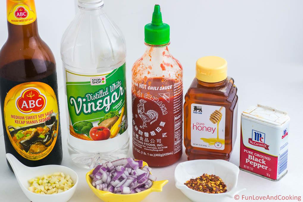 Spicy Honey Chicken Bites recipe funloveandcooking.com