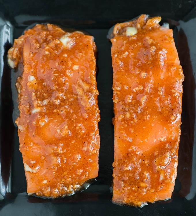 Honey Glazed Salmon recipe funloveandcooking.com