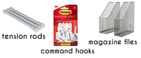simple supplies for kitchen organization