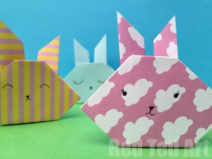 easy origami bunny craft for kids