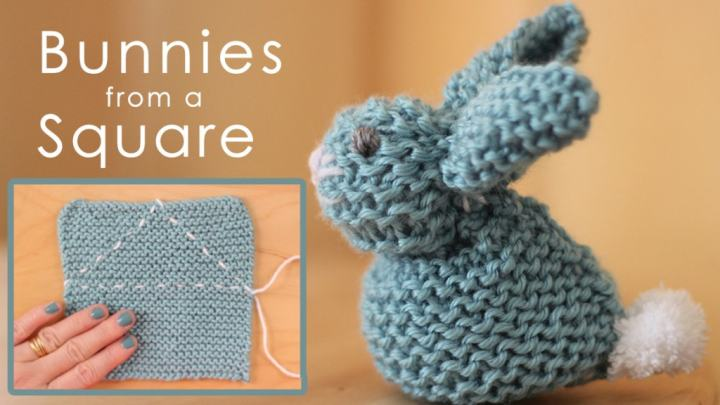 square bunny washcloth tutorial