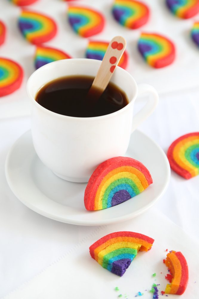 rainbow party ideas, how to make rainbow cookies
