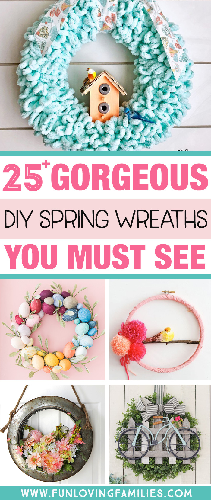 variety of spring wreaths you can make