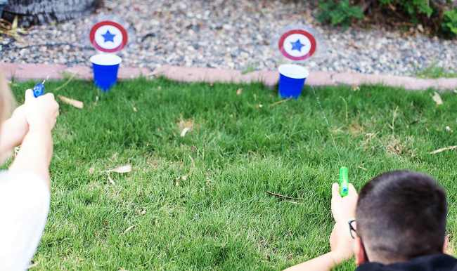 Fun water gun backyard party game, plus lots of other great ideas to try.