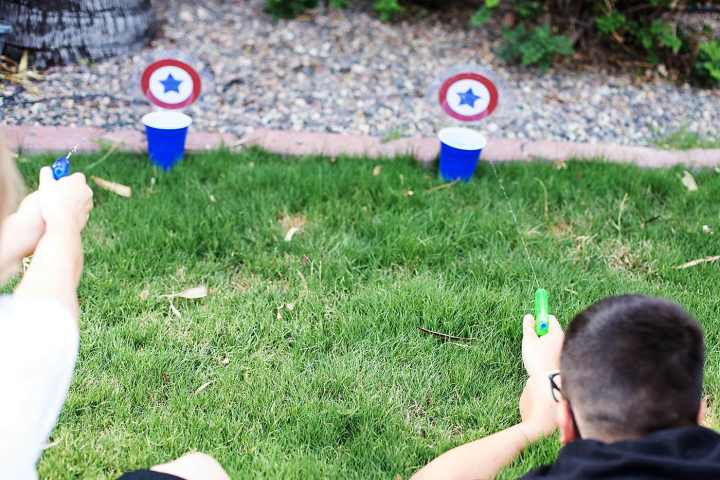 homemade water target game for kids