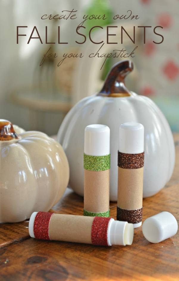 Make these DIY fall-scented lip balms for yourself or DIY spa gifts for Fall.