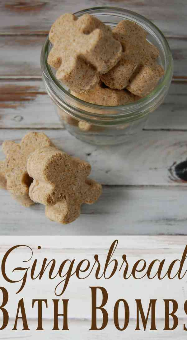 Make these adorable Gingerbread DIY bath bombs for your Fall Spa Day!