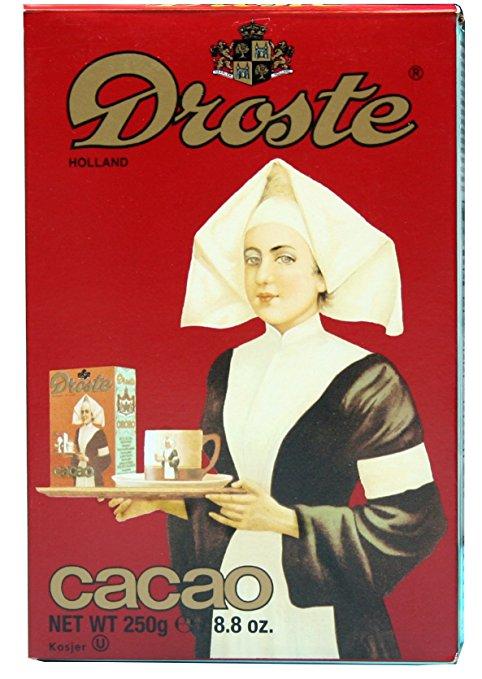use Droste cocao for delicious hot cocoa