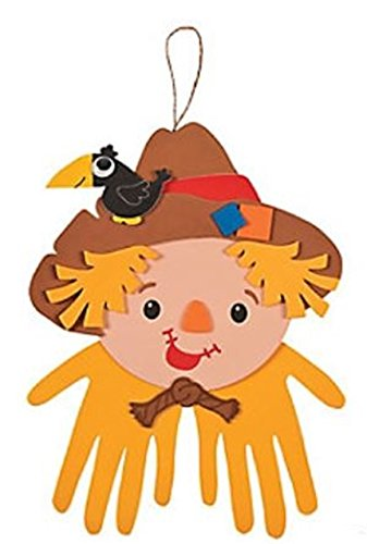 Fall handprint craft Scarecrow handprint kit