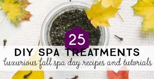 Make your own spa treatments at home this Fall with these simple recipes and tutorials.