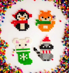 make these adorable melty bead christmas ornaments with the free printable patterns available to download  [ 3081 x 3898 Pixel ]
