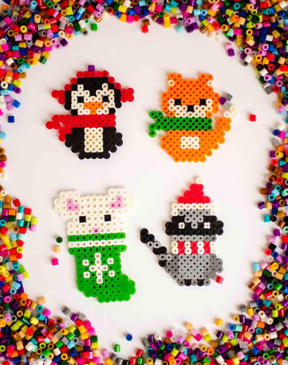medium resolution of make these adorable melty bead christmas ornaments with the free printable patterns available to download