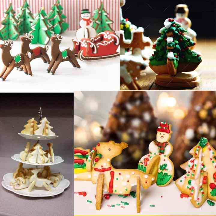 extra cookie cutter shapes for gingerbread house decorating