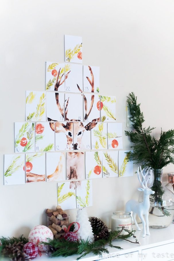 Print this gorgeous DIY advent calendar at home to create a beautiful countdown to Christmas. Each day will be exciting for the kids as they get to see a new part of the image.