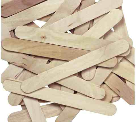 set of jumbo craft sticks for ornament crafts