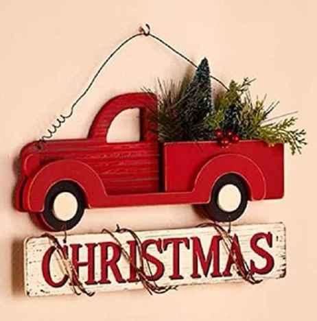 Farmhouse Christmas Truck Sign