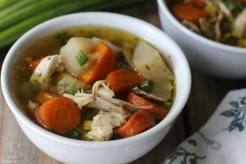 Make homemade chicken noodle soup with this easy Instant Pot soup recipe. #InstantPotRecipes #SoupRecipe