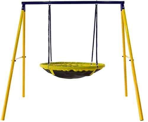 UFO Saucer Shaped swing for backyard play
