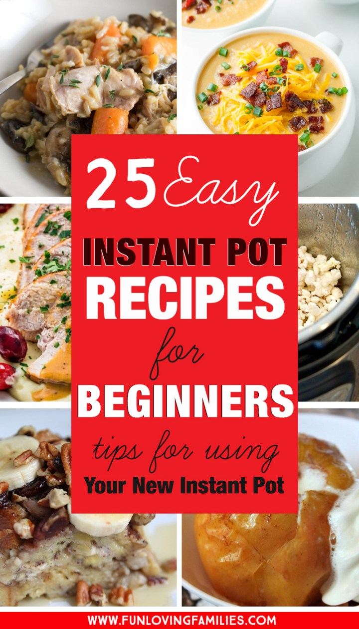 easy Instant pot recipes for beginners to try