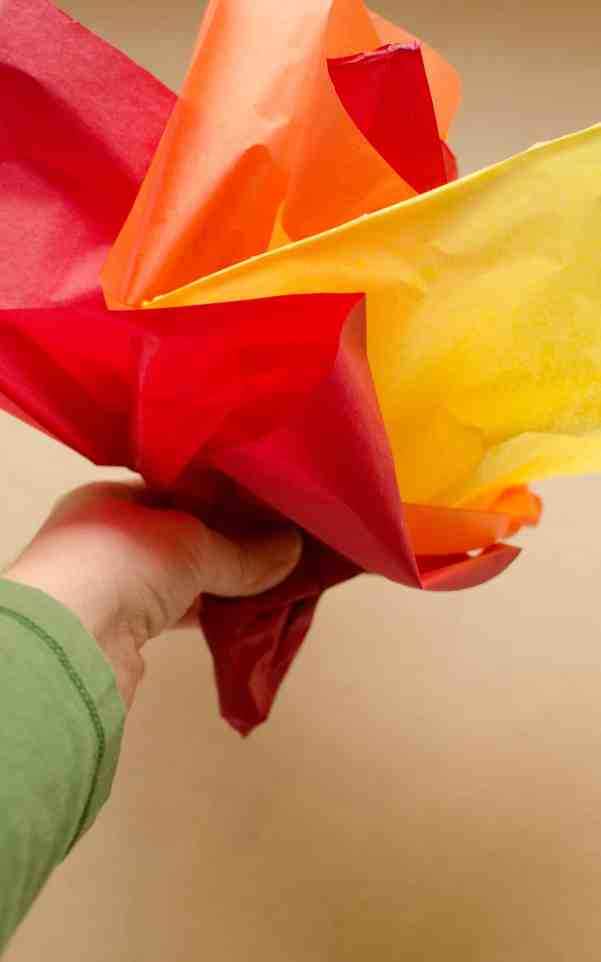 Olympic torch craft tissue paper fire
