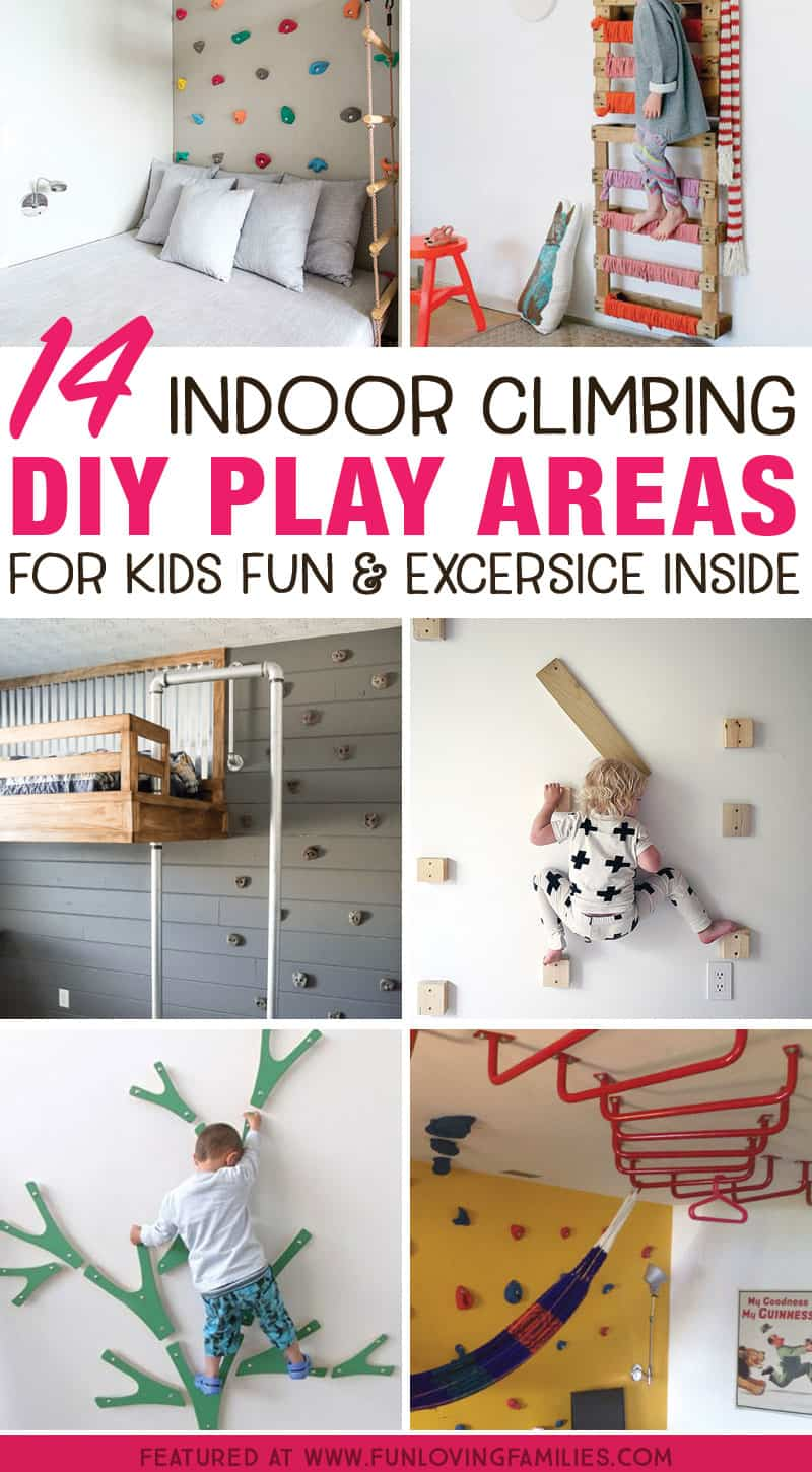 Indoor play for kids: Make an indoor climbing space for kids fun and exercise indoors. Perfect for those cold, rainy days when the kids are bursting with energy.