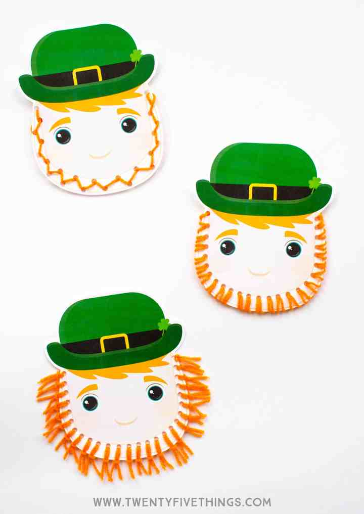 three ways to make the leprechaun's beard